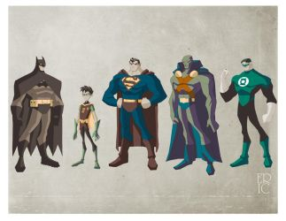 DC Superheroes by EricGuzman