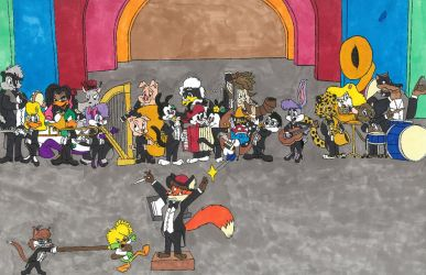 The Plucky Duck Show Orchestra by Redtop1995