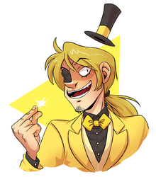 Commission: Human Bill Cipher by GreenLiquidBrain