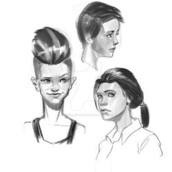 Head Sketches 01 by MarkPanchamArt