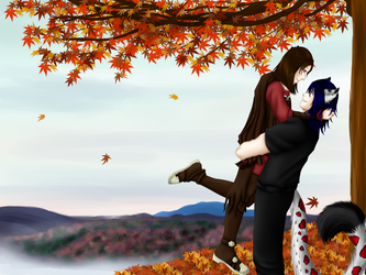 Autumn Love by SilverstarArtworks