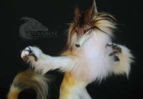 Banded Copper Morgul Wolf Room Guardian by AnyaBoz