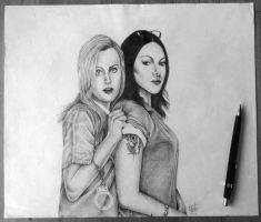 Piper and Alex drawing by DesperateSummers