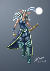 Moon Elf Huntress by WHDiong