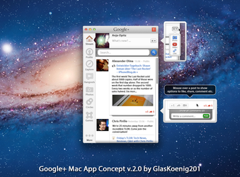 Google+ Mac App Concept Version 2.0 by GlasKoenig201