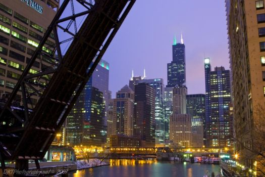 Chicago at Night by nfcdakota