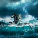 Mermaid riding Hippocampus by Viergacht