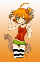 Happy Neko Girl Coloured by excence