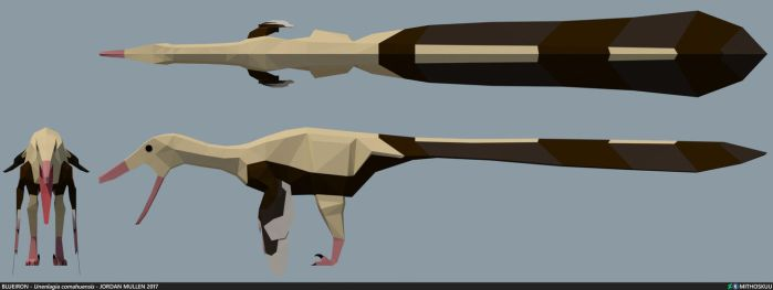 Unenlagia comahuensis low poly by MithosKuu