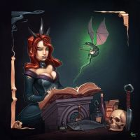 a Spell that was printed relatively small. by gregor-kari