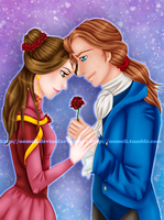 Prince Adam x Belle - Valentine's Day by OoMeli