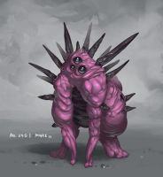 Monster No. 045 by Onehundred-Monsters