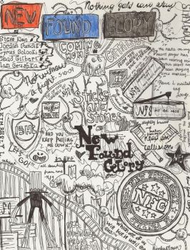 New Found Glory Doodle Drawing by kimster811
