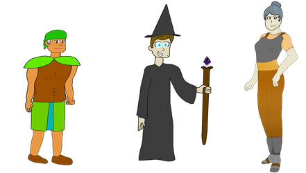 Spells Touble, new Characters! by dogman0