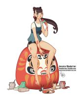 Character Design - Japan Inspired Character 02 by MeoMai