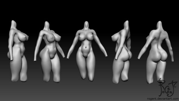 September-chan WIP 6 body render by Rogent