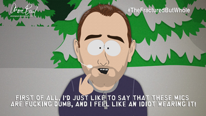 Trey Parker and the Dumb Mics by AnonPaul