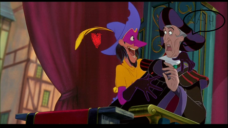 Frollo and Clopin in the Festival of Fools. by Severusiana