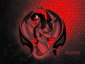 Alone - Desktop - Red by DTaina