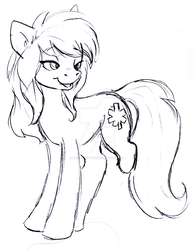 Randi without her prosthesis by Honeycrisp1012