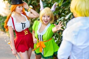 Nami and Carrot Find Sanji One Piece by firecloak
