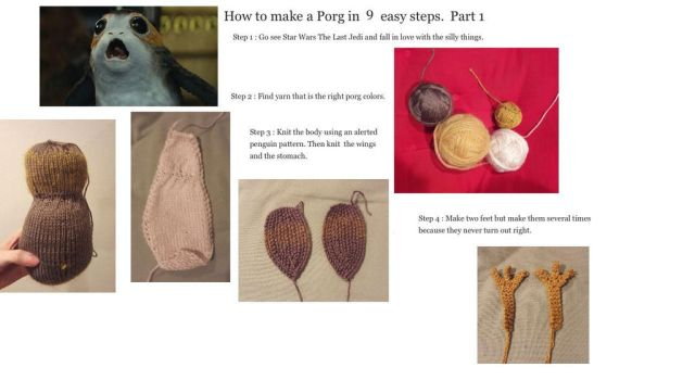 How to make a Porg in 9 easy steps. Part 1 by ryu-ren