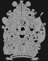 Welcome to the show final lineart by SideshowFreddy
