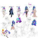 Amara Poses and Expressions by Noe-Izumi by Cosmic-Phoenyx