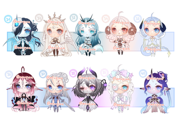 ADOPTS: 100 Adopt challenge 31-40 [2/10 OPEN] by Mewpyonadopts