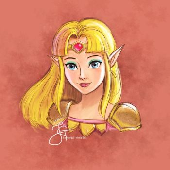 Princess Zelda (LOZ - Link Between Worlds) by tiannangel