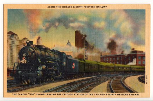 The '400' leaving downtown Chicago circa 1935 by PRR8157