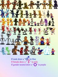FNAF World Gender Meme Blank by KuranaMinamino