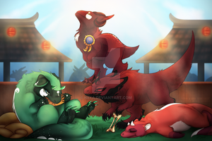 FoD: Eating Contest by Niixa