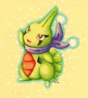 Day 6: Larvitar by KGScribbles