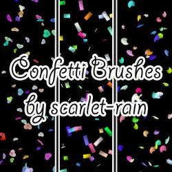 Confetti Photoshop brushes by scarlet-rain