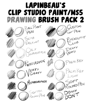 Lapinbeau's Clip Studio Paint Brush Pack 2 by lapinbeau
