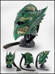 Green Elven Knight Helmet Compiled by Azmal