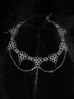 Emerald Drape Choker by whitefantom