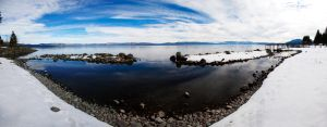 Lake Tahoe Snow Panorama by RyanRadical
