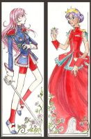 Utena and Anthy Bookmarks by BlueRecluse