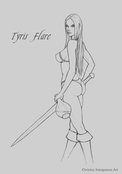 Tyris Flare sketch by amorphisss