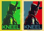 Kneel Before Loki Poster design