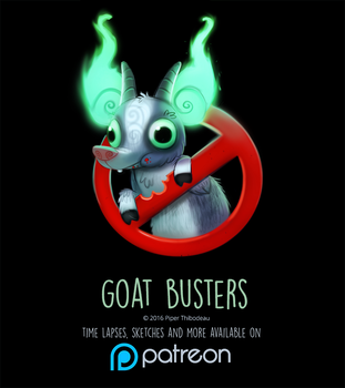 Day 1441. Goat Busters by Cryptid-Creations
