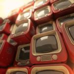 vintage tv pile by archy13