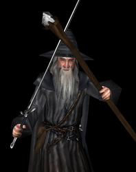 Gandalf the grey 3D model - shader by Louis-Lux