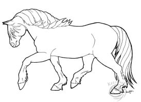 Haflinger Coloring Page by lantairvlea