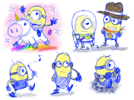 Sketch - Lil' Minions by Naeon23