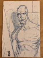 Silver Surfer Sketch Card by hyperjack08