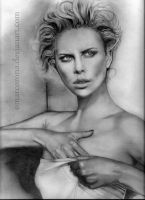 Charlize Theron WIP 04 by OmarCorona