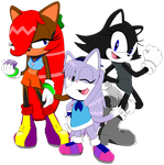 Molly Ketty, Valery and Kerstin (IDW Sonic Style) by MollyKetty
